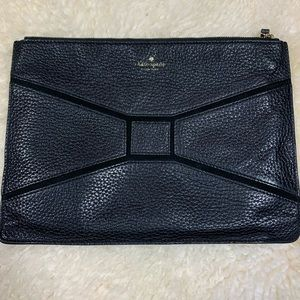 kate spade Bags - Kate Spade Black Zippered Pouch Leather